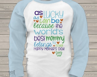 Mothers Day boy worlds best mommy raglan shirt  mmga1-076-R