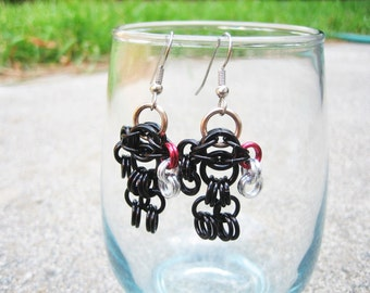 Winter Soldier Themed Chainmaille Maille Man Earrings