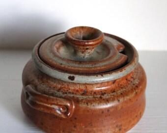 Vintage Handmade Ceramic Honey Pot