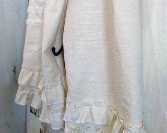 Ruffled Bloomers In Ecru Muslin with Pockets and Romance The Wild Raspberry