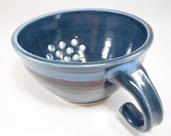 Berry Bowl Sink - Berry Basket Clay - Berry Bowl - Berry Basket - Pottery Berry Bowl - Ceramic Colander - Fruit Bowl - In Stock