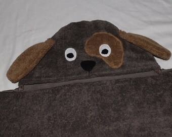Puppy Dog Hooded Towel - Great Birthday or Baby shower Gift - perfect for Infant / Toddler / or Child