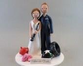 Bride & Groom Customized Wedding Cake Topper - reserved for NicoleGillenberg