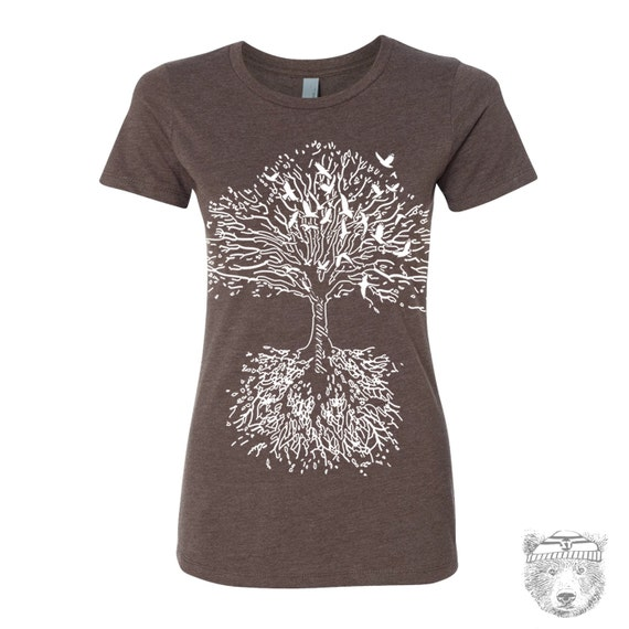 Womens Vintage ROOTS hand screen printed tee All Sizes s m l xl xxl (+ Colors Available)