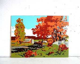 Paint By Number Painting PBN   Maple Tree   Farm Country Life   Testors