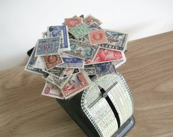 Vintage world stamps packet, older selection - for collection or craft
