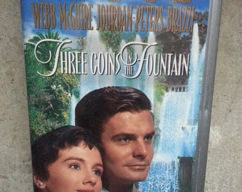 Three Coins in the Fountain 1954 VHS 1997 Silver Clamshell Romance in Rome