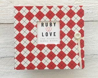 Red Argyle   BABY BOOK