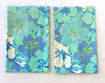 2 Blue Flower Pillowcases by Cannon Monticello Vintage