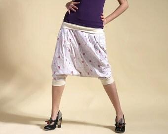 harem pants woman white, roses harem pants, harem pants ninja