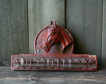 Vintage Tie Rack Horse Head 1970s Country Western Decor Vintage From Nowvintage on Etsy