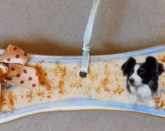 Australian Shepard Dog Bone Ornament