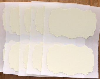 Cotton Labels Ivory Stickers Rectangle Flourish