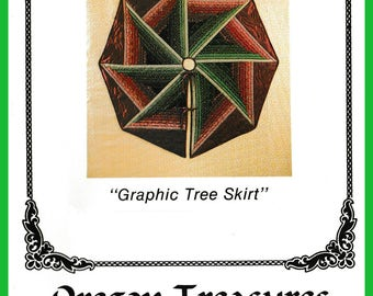 Graphic Tree Skirt Pattern or Table Topper - *FREE Domestic Shipping*