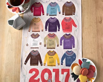 2017 Woolly Sweater KniTea Towel Calendar
