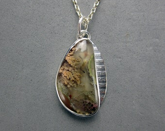 Priday Plume Agate Sterling Silver Pendant
