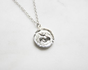 Sterling Silver Bee Necklace - Bee Charm - Honeybee Charm - Bee Jewelry - Bee Wedding - Bumble bee Necklace - Bridesmaid Gifts