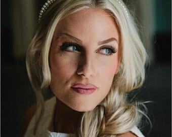 Ivory Pearl Tiara. Swarovski Crystal Pearls.  Bridal Hair Accessories.
