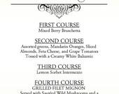 RESERVED for Ashley Roberts - Custom Wedding Menus