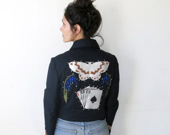 Born Under a Bad Sign Jacket / Bad Luck Applique Jacket Sz S