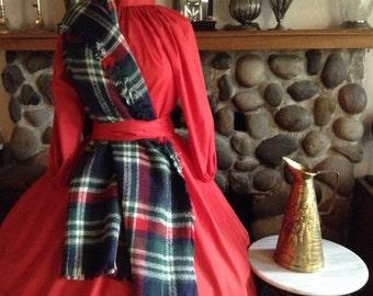 Highland Games Scottish Highlander, Celtic, Civil War, Colonial, Pioneer, Mountain Man, Skirt, Blouse, Plaid Shawl, Sash