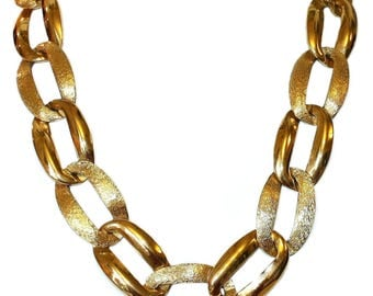 Vintage Napier Goldtone Link Necklace