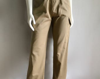 Vintage Women's 80's High Waisted, Safari Pants, Tapered Leg by Banana Republic (S/M)