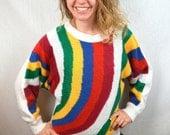 RAD Rainbow Vintage 80s Sweater