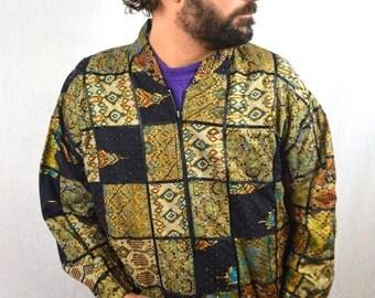 Vintage Batik Hippie Beaded 90s Indonesia Jacket Coat - Indonesia