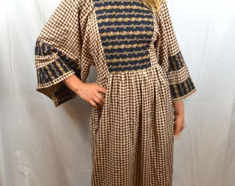 Vintage 60s Hippie Summer Maxi Handmade Dress