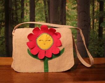 SHOP SALE*Flower Mini Messenger-kids messenger bag-  Kids purse