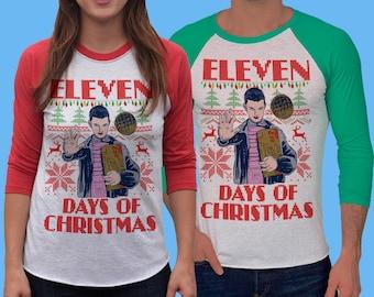 Feliz Navidad Baseball Tee womens Christmas Sweater design