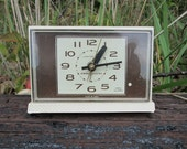 Lighted Dial Alarm Clock GE General Electric Vintage with Snooze Bar View Alarm Model 7365-5A