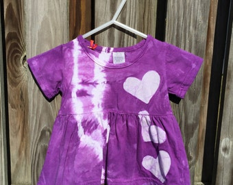 Purple Baby Dress, Baby Girl Dress, Baby Easter Dress, Baby Girl Gift, Baby Shower Gift, Tie Dye Baby Dress, Purple Baby Gift (6 months)