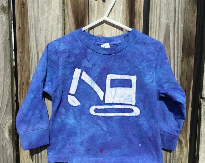 Kids Truck Shirt, Boys Truck Shirt, Girls Truck Shirt, Kids Excavator Shirt, Blue Excavator Shirt, Kids Digger Shirt, Childrens Shirt (2T)