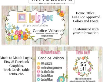 LuLaRoe™ Business Cards, Clothing Rep Card, Business Card Design 2, Business Card Template, Business Card, LulaRoe™ Card