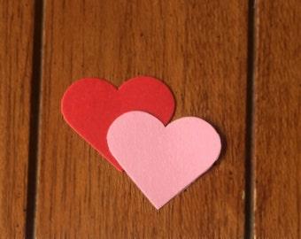"""Scalloped Hearts / Die Cut / 2.5"""" / Valentine DIY"""
