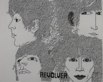 PDF Version The Beatles Revolver Album Cover Counted Cross Stitch Chart Immediate Download