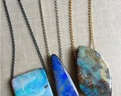 Opal Necklace, Australian Boulder Opal Jewelry, Design Your Own Opal Pendant, Gifts For Her, Boho Jewelry