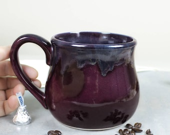 Large 22oz. Coffee Mug, Eggplant purple and dark blue Tea Cup, Hot Cocoa Big Old Cup, Hostess Gift, for men, gifts for all
