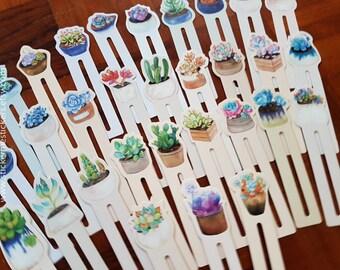 Succulents bookmark, Plant bookmark, Cactus bookmark, Succulent bookmark, Gardening, Cactus, Cacti