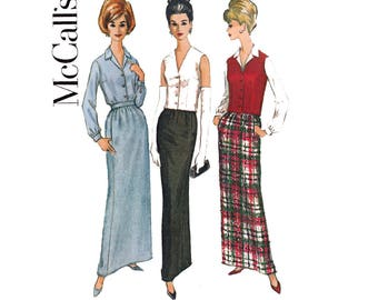 McCall's 7013 Skirt Blouse Vest Womens Separates 1960s Vintage Sewing Pattern Size 12 Bust 32 inches UNCUT Factory Folds