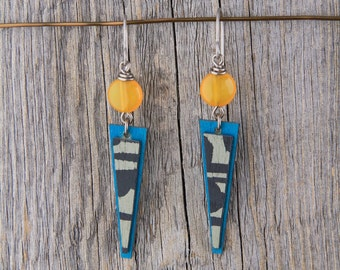 SERENDIPITY / Wood Earrings / Women's Jewelry / Gifts For Her / Sustainable / Earrings / Acrylic Painting / Art / Art Jewelry