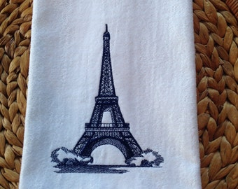 Eiffel Tower - Bathroom 16x26 Velour Hand Towel