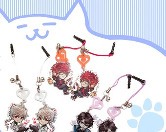1.7inch mystic messenger clear acrylic charms with heart accessory