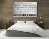 Vintage Sheet Music, Music Teacher Gift, Sheet Music Decor, Music Lover Gift, Your Song On Canvas