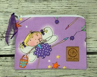 Snack Size Reusable Bag - Zipper Pouch - Sandwich Bag - Reusable Bag - Dancing Fairie