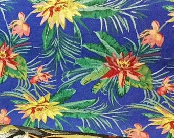 "58"" Wide Exotic Chinese Brocade Fabric Floral Tropical Black Purple Silver Metallic Royal Blue Mauve Chartreuse Yellow Emerald Green Pink"