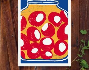 "Stuffed Chillies - art print - 11""x15"" - archival fine art giclée print"