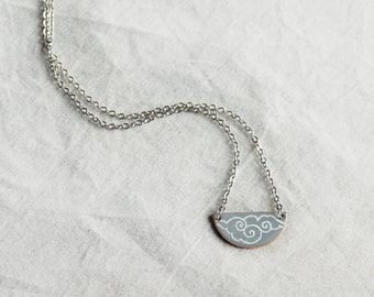 Storm Grey Rolling Clouds Necklace